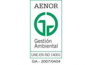 Certificado ambiental AENOR